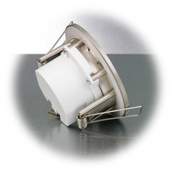 LED Downlight mit top modischer Optik im gebürsteten Edelstahlgehäuse