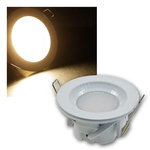 Einbauleuchte Flat-40FR LED warmeiß 430lm, weiß