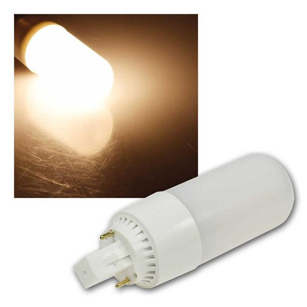 LED Leuchtmittel G24, warmweiß 630lm, 230V/8W
