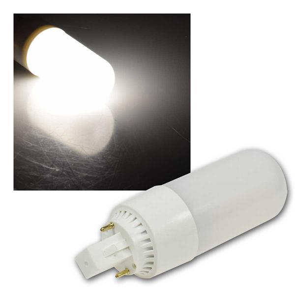 LED Leuchtmittel G24, neutralweiß 650lm, 230V/8W