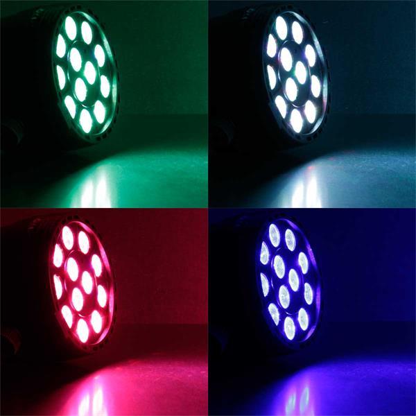 LED Partylicht in RGB-Farben mit vielen Funktionen