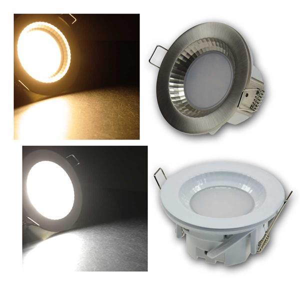 Einbauleuchte Flat-40FR LED warm/neutr weiß/Edelst