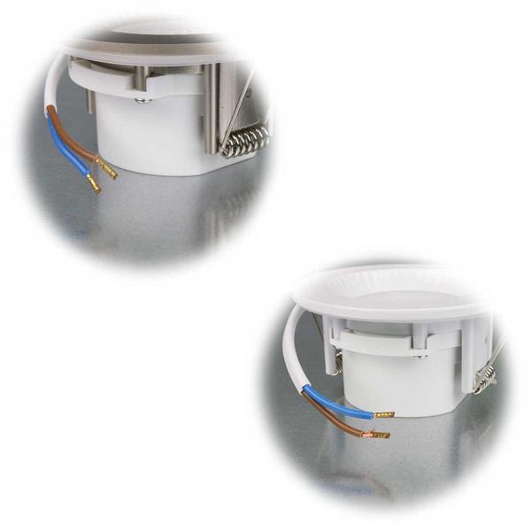 Flache Einbauleuchte mit 5W-LEDs in  2 Farben
