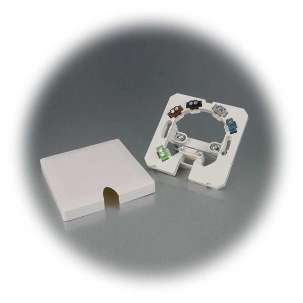 1-Kammeranschlussdose mit Deckel mit Schnappverschluss