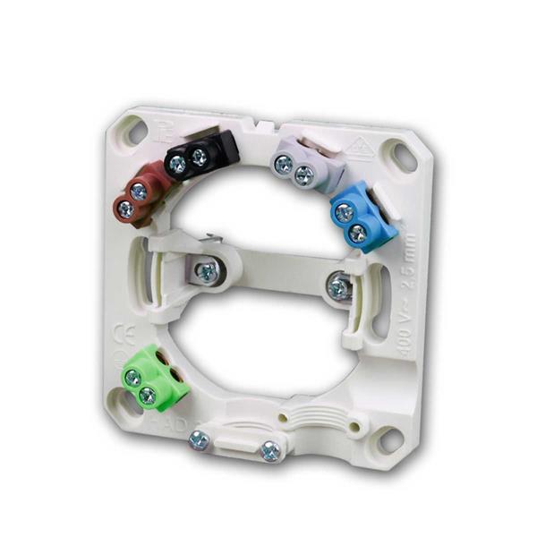 Herdanschlussdose AP mit Krallen, 5x2,5mm², weiß