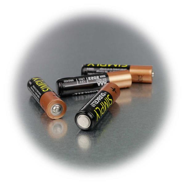 AAA Micro-Batterie mit 1,5V Spannung technisch identisch mit Duracell Plus