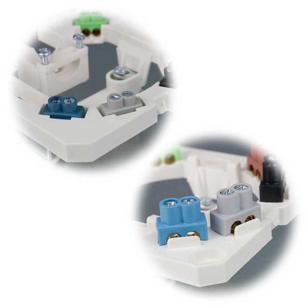 Herdanschlussdose zur Aufputz- oder Unterputz-Montage