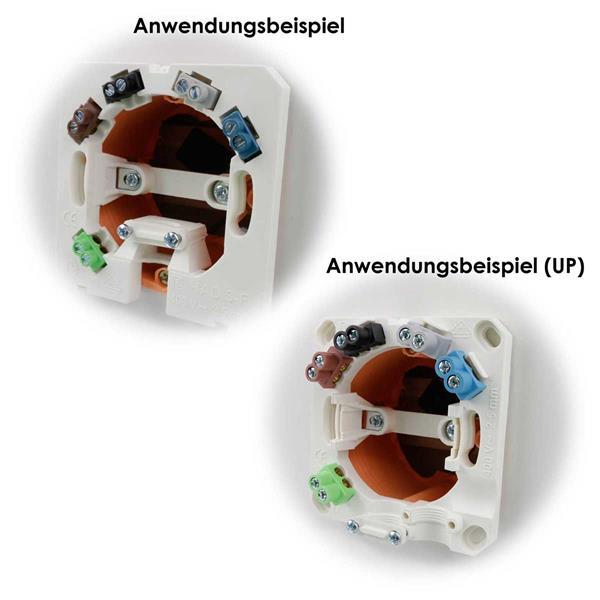 Herdanschlussdose  für Kabel bis 5x2,5mm², AP / UP-Montage
