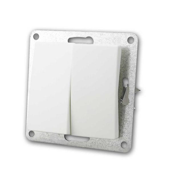 FLAIR Serienschalter weiß, 250V~/10A, Unterputz