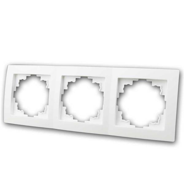 FLAIR Rahmen, 3-fach, weiß matt, Dreifachrahmen