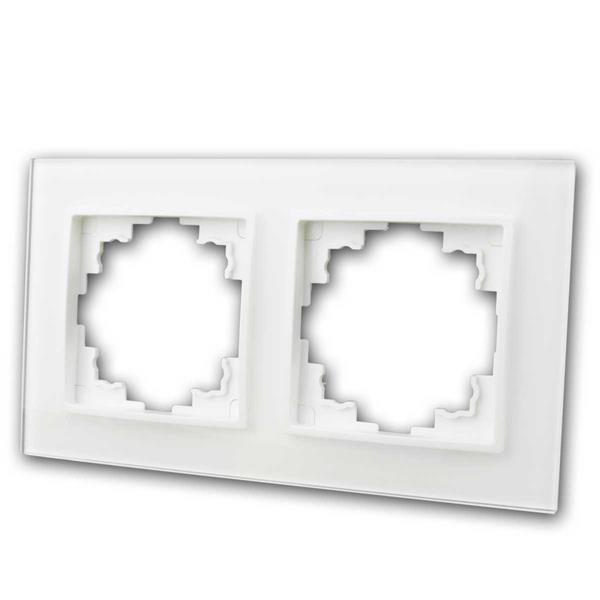 FLAIR Glasrahmen, 2-fach, weiß, Rahmen aus Glas