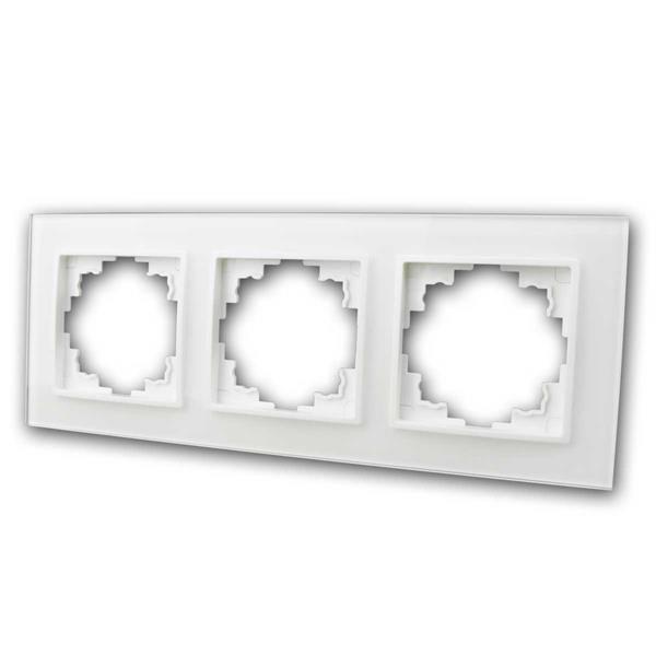 FLAIR Glasrahmen, 3-fach, weiß, Rahmen aus Glas