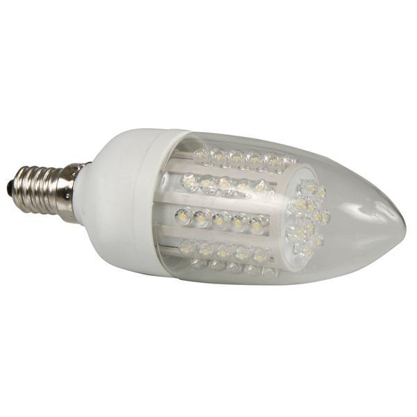 LED Glühbirne Kerze mit Sockel E14 für 230V und nur ca. 3W Verbrauch