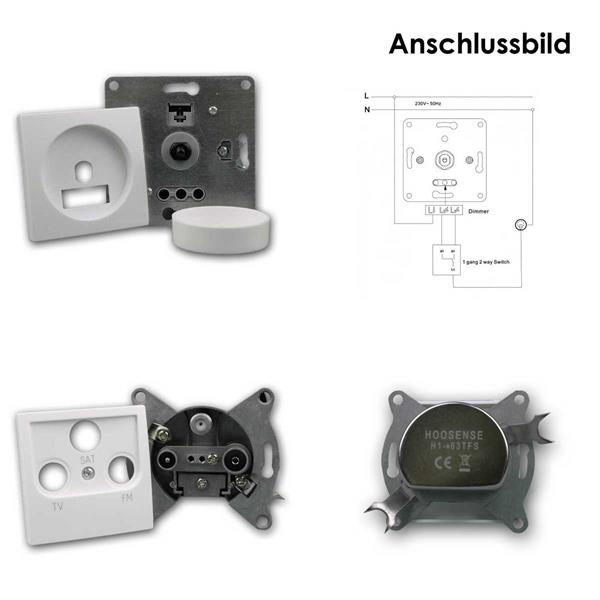 FLAIR Dimmer Schalter und FLAIR Antennendose weiß