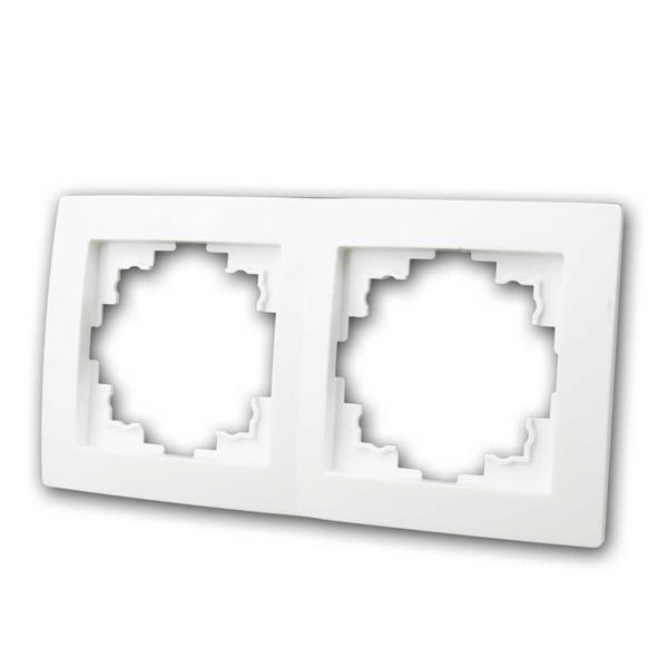 FLAIR Rahmen, 2-fach, weiß matt, Zweifachrahmen