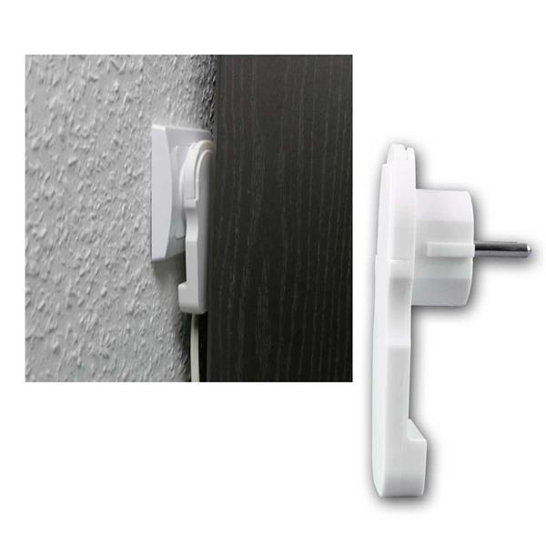 EVOline Plug Flächen-Winkelstecker, 250V/16A, weiß