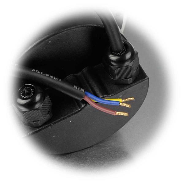 LED Einbaustrahler mit losen Kabelenden für direkten Anschluss an 230V