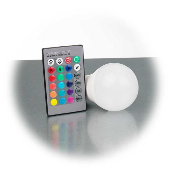 IR-Fernbedienung zum Einstellen verschiedener Farben, Helligkeit oder Farbwechselmodis