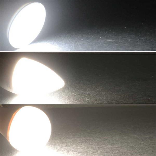 3-step-dimm LED Leuchtmittel mit GU10, E27 oder E14-Sockel