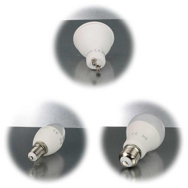 LED Leuchtmittel mit E14-, E27- oder GU10-Sockel