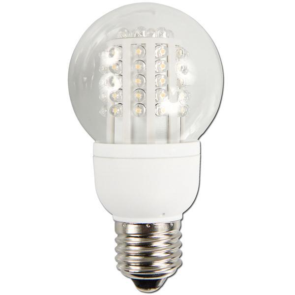 LED Energiesparlampe mit 60 breitstrahlenden LEDs im Kunststoff-Gehäuse