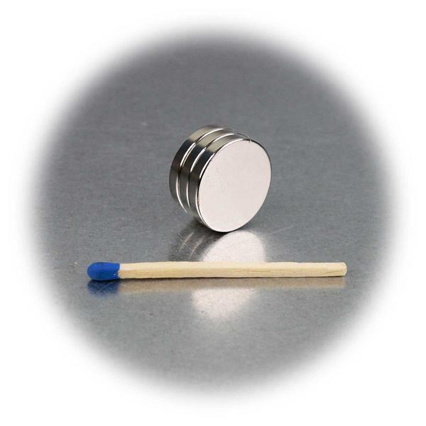 3er Set Supermagnete, 18x3mm, rund