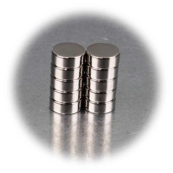 8x3mm kleine Supermagnete im 10er Pack