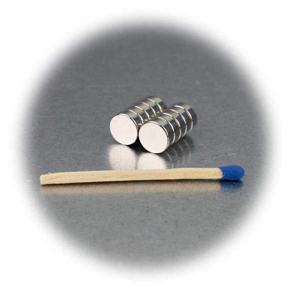 10er Set 8x3mm kleine Supermagnete