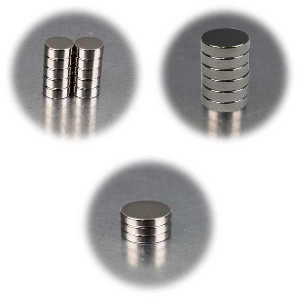 Neodymiummagnete in verschiedenen Größen