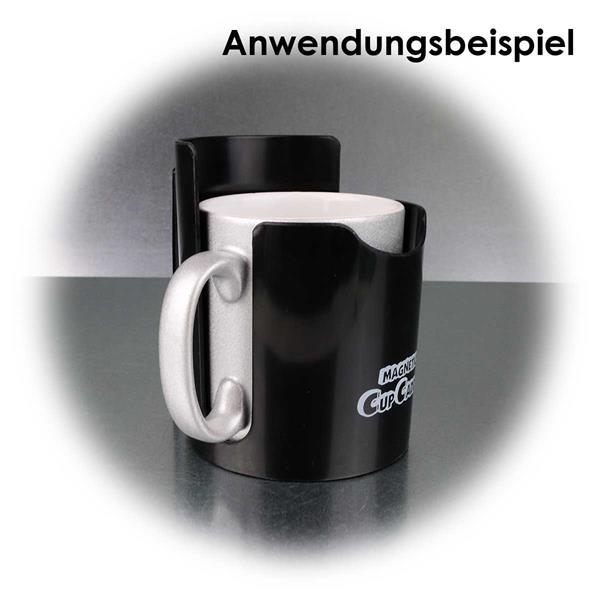 magnetischer Halter mit Aussparrungen für Tassen