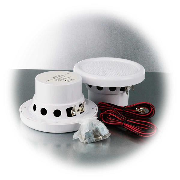 Zwei Einbaulautsprecher mit  4 Ohm, 60W,  IP44, 90dB