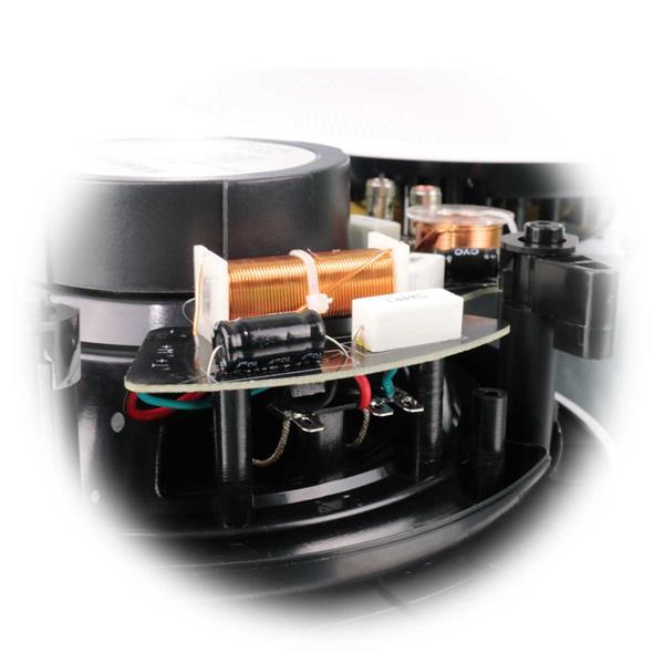 Deckeneinbaulautsprecher mit Hochtöner und Frequenzweiche
