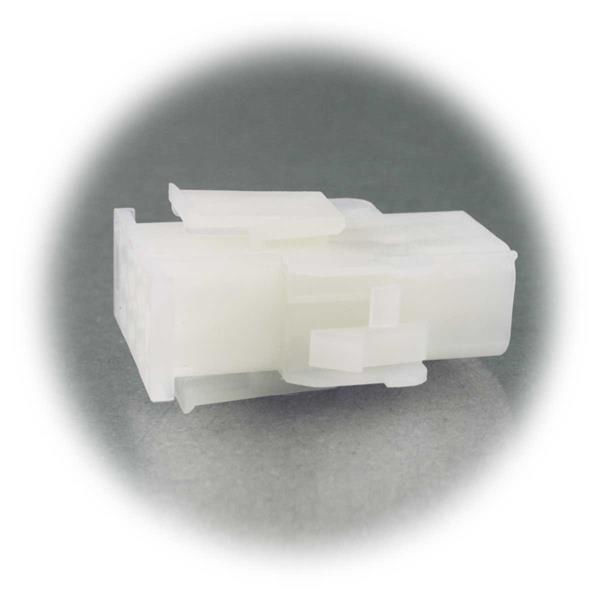 Kunststoffsteckverbinder mit Arretierung für festen Zusammenhalt