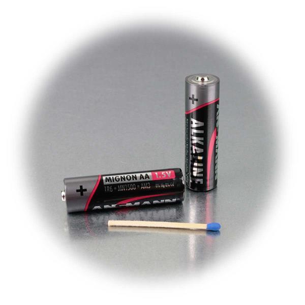 Mignon Batterien als Energiezelle für batteriebetriebene Geräte