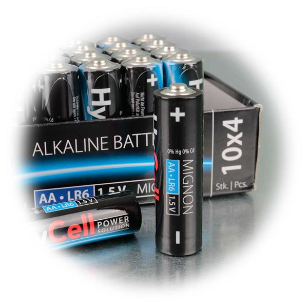auslaufsichere Alkaline-Batterie AA mit 0% Quecksilber, 0% Kadmium