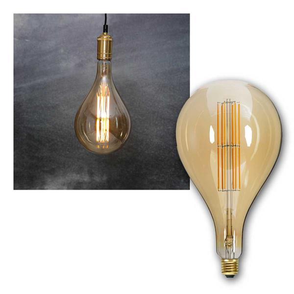 E27 LED Birne INDUSTRIAL Filament Tropfen Ø165mm