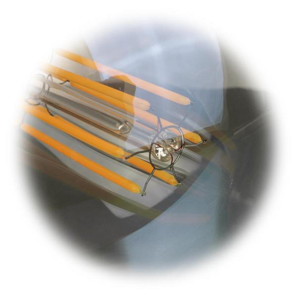im Retrostil gestaltetes E27 LED Leuchtmittel mit Filament LEDs