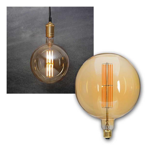 E27 LED Birne INDUSTRIAL Filament Kugel Ø200mm