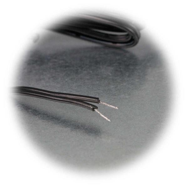 DC Leitung für maximal 2 Ampere mit offenen Kabelenden