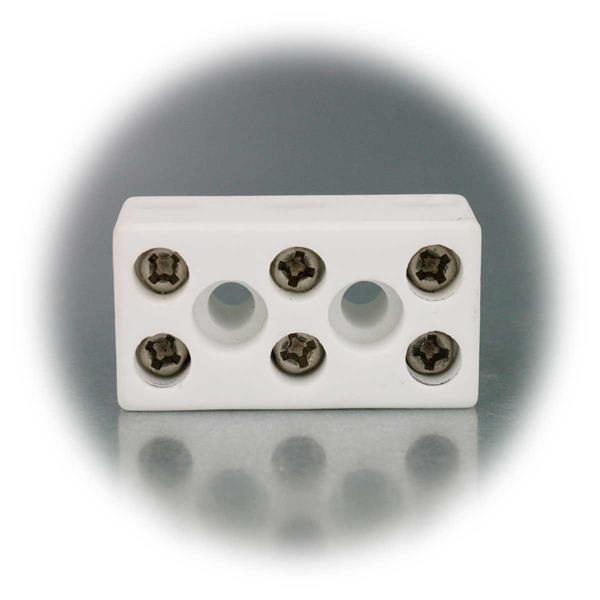 Porzellanklemme zum Verbinden von mehrdrähtigen elektrischen Kabeln