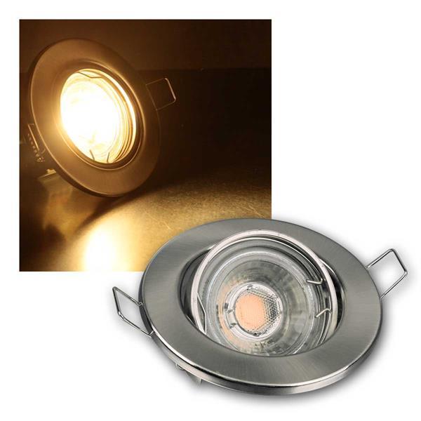 3er SET MR16 60er LED Einbaustrahler ww chrom-matt