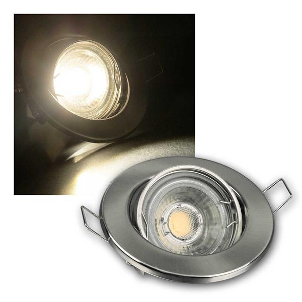 3er SET MR16 60er LED Einbaustrahler kw chrom-matt
