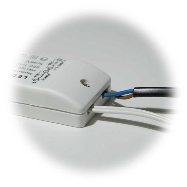 LED Strahlerset für 12V DC mit nur 2,5W Verbrauch hier der Trafo-Anschluss