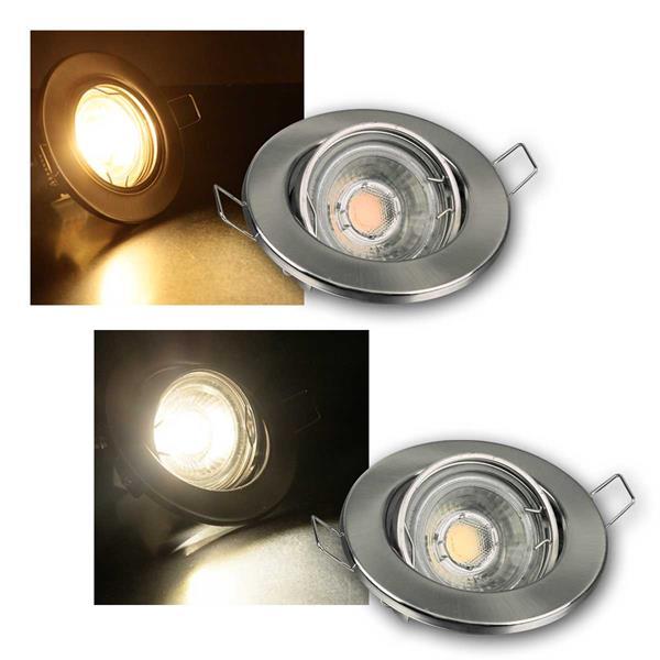 MR16 LED Einbaustrahler Sets 60 LED 3/5/8er kalt/w