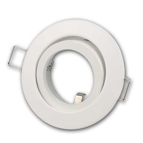 Einbaurahmen DL-248w rund, weiß, Ø82mm