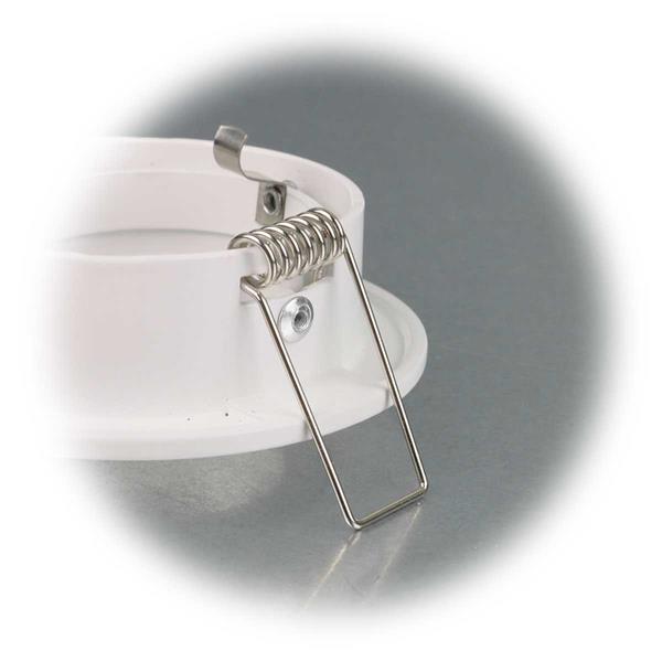 Einbaurahmen für Leuchtmittel mit stabile 40mm Haltefedern