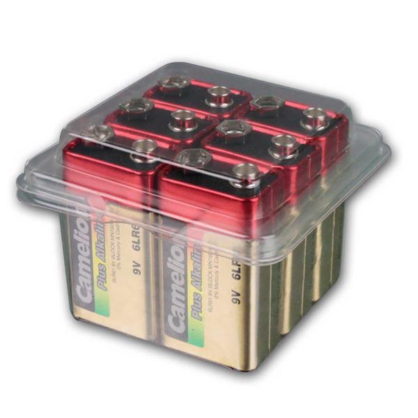 6er Pack 9V-Block-Batterie CAMELION AlkalinePlus