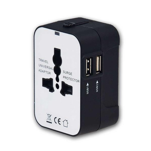 Welt-Reiseadapter mit USB-Ladegerät 5V, 2,1A