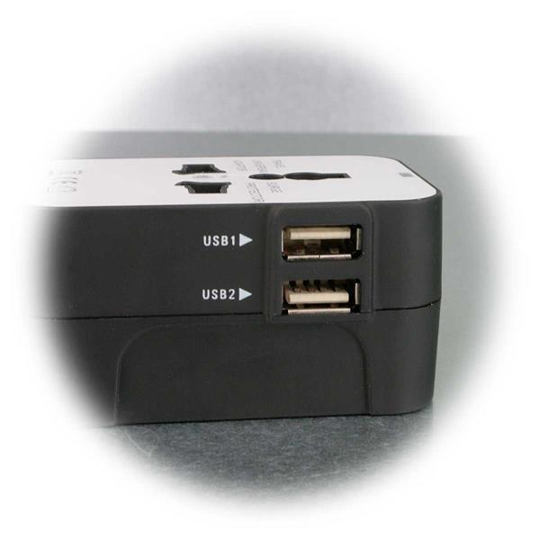 Steckeradapter mit USB Ladegerät 5V, 2,1A