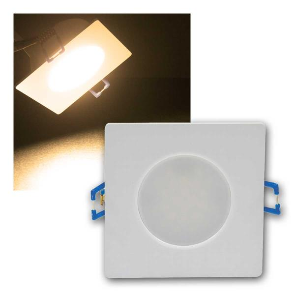 LED-Einbauleuchte Flat-30 FR-Q, warmweiß, IP44